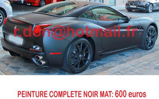 Ferrari California noir mat, Ferrari California noir mat, Ferrari mat