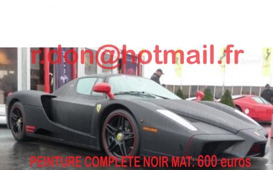 Ferrari Enzo noir mat, Ferrari Enzo noir mat, Ferrari noir mat