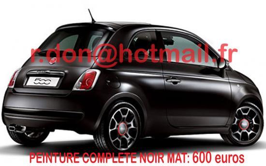 Fiat 500 noir mat, Fiat 500 noir mat, Fiat noir mat