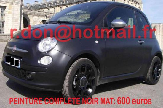 Fiat 500 noir mat, Fiat 500 noir mat, Fiat 500 noir mat