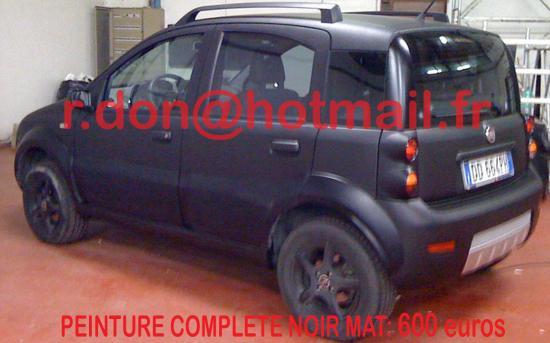 Fiat Panda noir mat, Fiat Panda noir mat, Fiat mat