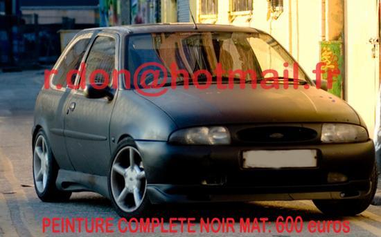 Ford Fiesta noir mat, Ford Fiesta noir mat, Fiat mat