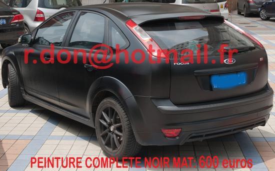 Ford Focus noir mat, Ford Focus noir mat, Fiat mat