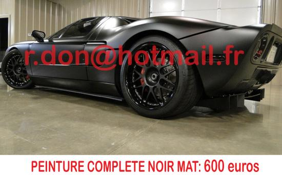 Ford GT 40 noir mat, Ford GT 40  noir mat, Ford noir mat