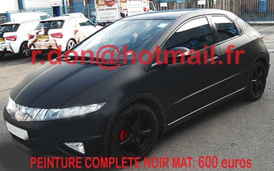Honda Civic noir mat, Honda Civic noir mat, Honda mat