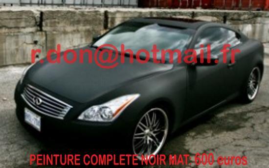 Infiniti G37 noir mat, Infiniti G37 noir mat, Infiniti noir mat