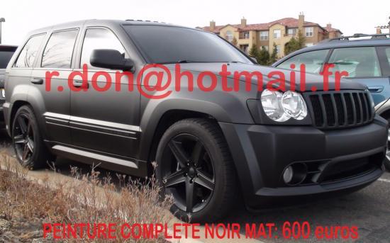 Jeep Cherokee noir mat, Jeep Cherokee noir mat