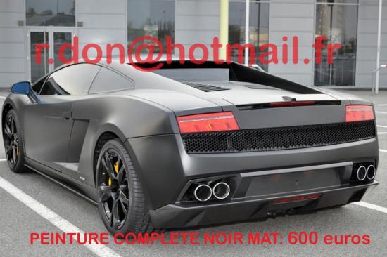 Lamborghini Gallardo noir mat, Lamborghini Gallardo noir mat