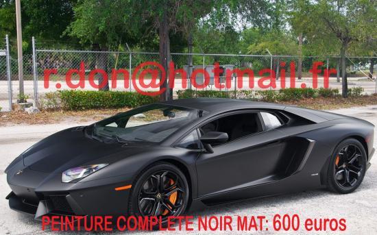 Lamborghini Aventador noir mat, Lamborghini noir mat