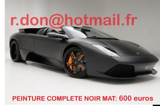 Lamborghini noir mat, Lamborghini noir mat, covering peinture noir mat