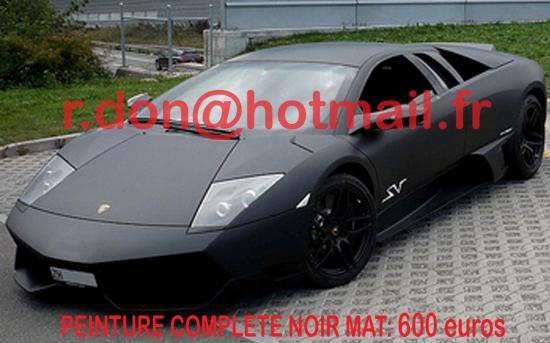 Lamborghini Murcielago noir mat, Lamborghini Murcielago mat