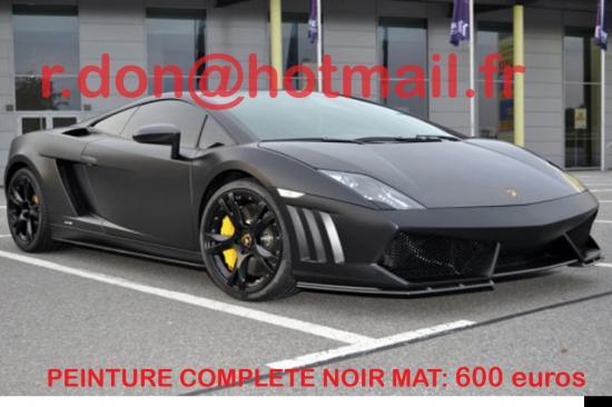 Lamborghini Gallardo noir mat, Lamborghini Gallardo covering noir mat