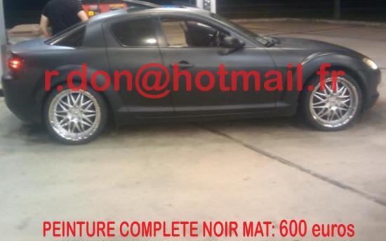 Mazda RX8 noir mat, Mazda RX8  noir mat, Mazda RX8 noir mat
