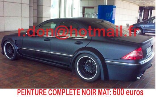 Mercedes CL noir mat, Mercedes CL noir mat