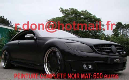 Mercedes CL noir mat, Mercedes CL noir mat, Mercedes CL noir mat