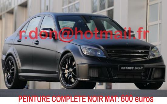 Mercedes Classe C noir mat, Mercedes Classe C noir mat