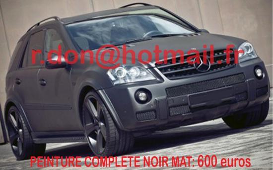 Mercedes ML noir mat, Mercedes ML noir mat, Mercedes ML noir mat