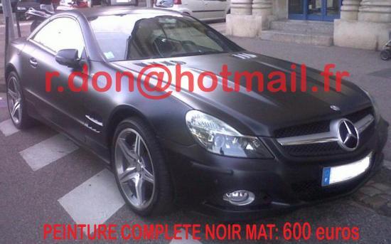 Mercedes SL noir mat, Mercedes SL noir mat