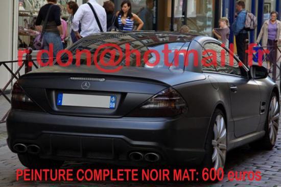 Mercedes SL noir mat, Mercedes SL noir mat, Mercedes mat