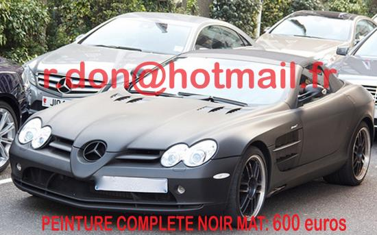 Mercedes SLR noir mat, Mercedes SLR noir mat