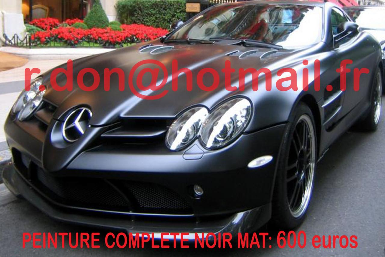 mercedes slr noir mat voitu. Black Bedroom Furniture Sets. Home Design Ideas