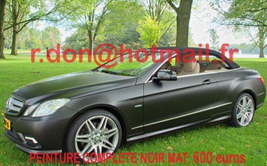 Mercedes Classe E noir mat, Mercedes Classe E noir mat