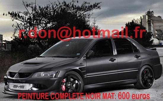 Mitsubishi Evo noir mat, Mitsubishi Evo noir mat