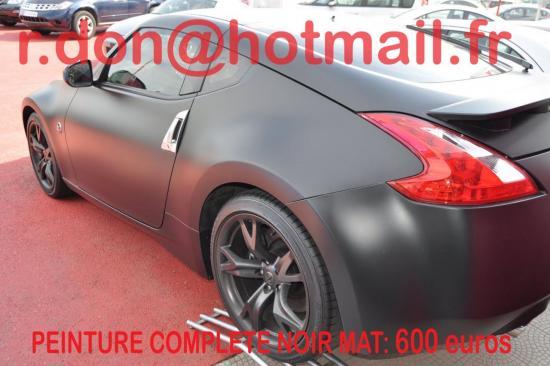 Nissan 370 Z noir mat, Nissan 370 Z noir mat, Nissan noir mat