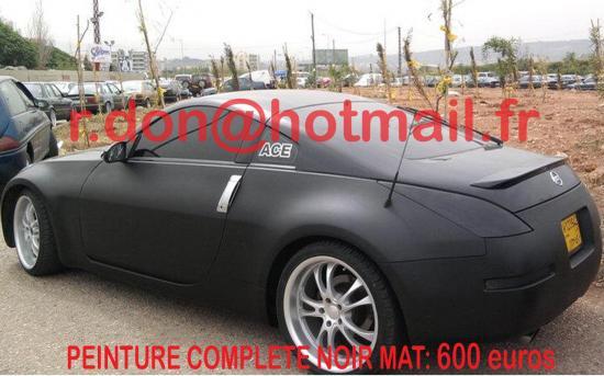 NISSAN-350Z-covering-noir-mat-lille-covering-noir-mat-lille-auto