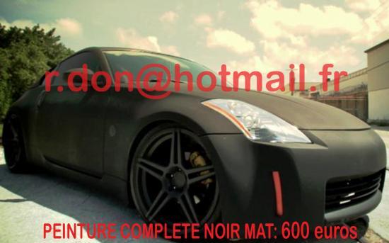 Nissan 350Z noir mat, Nissan 350Z noir mat