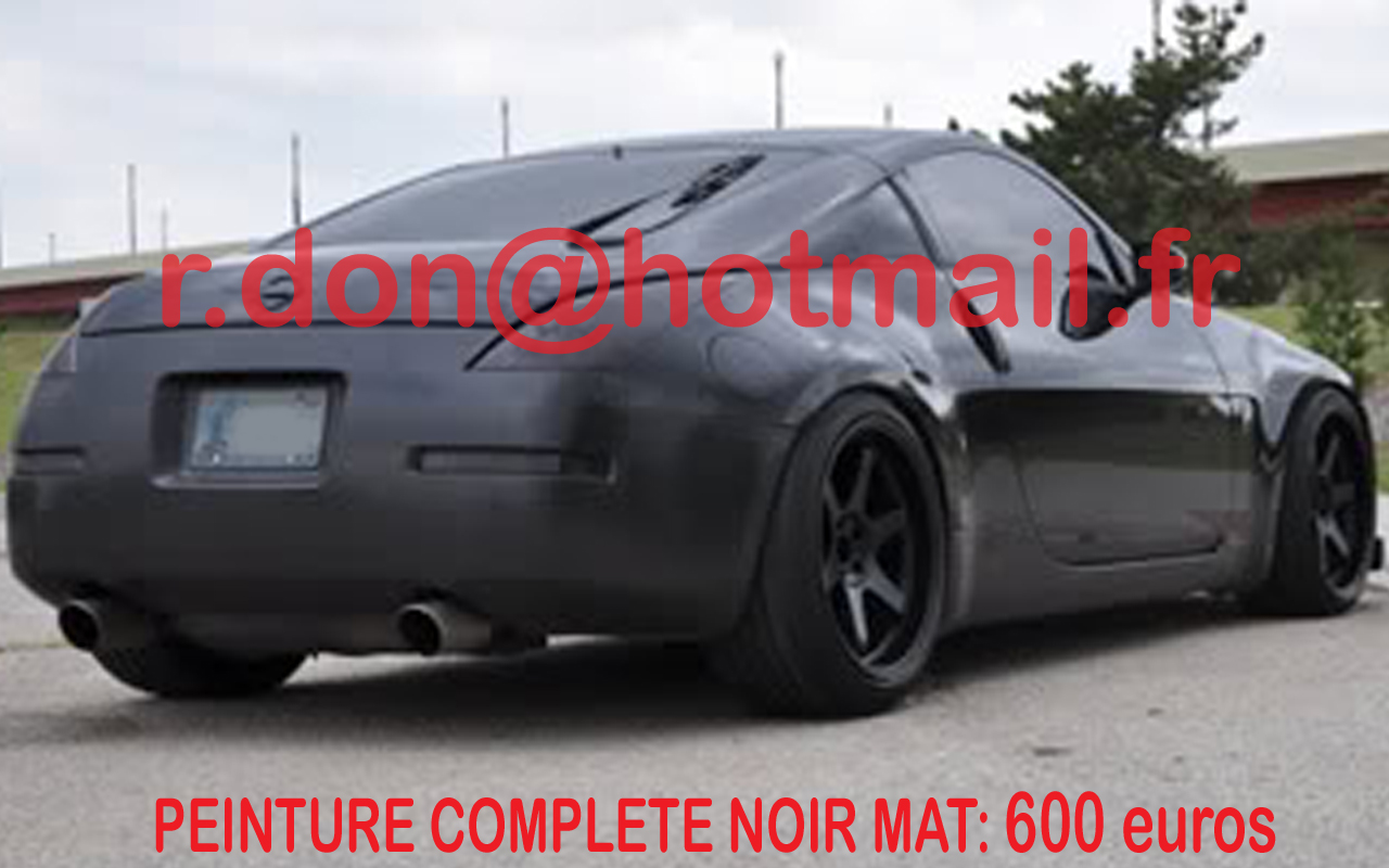 Pin nissan 350z tuning front view hd wallpaper free for Peinture sol noir mat