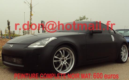 Nissan 350 Z noir mat, Nissan 350 Z noir mat, Nissan 350 Z noir mat