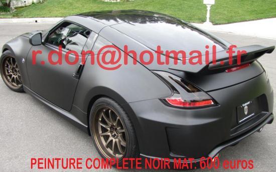 Nissan 370 Z noir mat, Nissan 370 Z noir mat, Nissan 370 Z noir mat