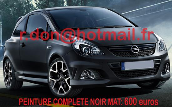 Opel corsa noir mat, opel corsa noir mat, covering opel corsa noir mat