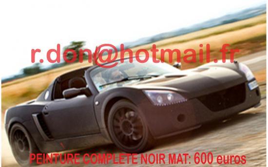 Opel speedster noir mat, Opel speedster noir mat