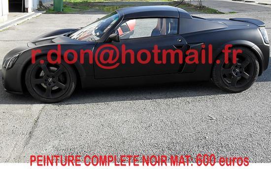 Opel speedster noir mat, Opel speedster noir mat, Opel speedster