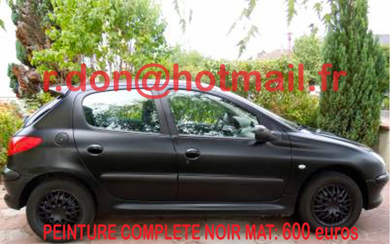 Peugeot 206 Jante Noir Mat Jante Noir Mat Total Covering Auto Peugeot 206 Peindre Jantes Noir Mat Peindre Jantes Noir Mat