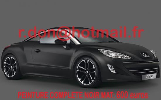 PEUGEOT-RCZ- Covering noir mat, total covering noir mat
