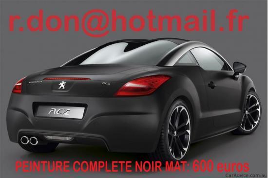 Peugeot RCZ noir mat, Peugeot RCZ noir mat