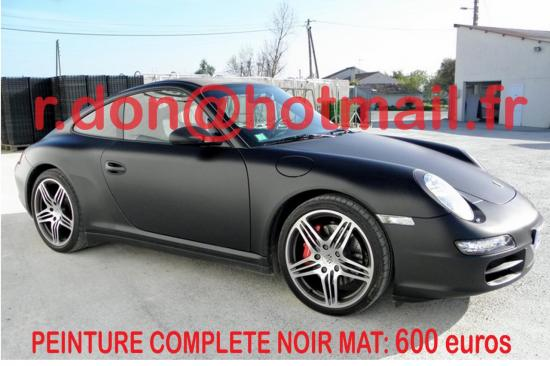 Porsche 911 noir mat, Porsche 911 noir mat, Porsche mat