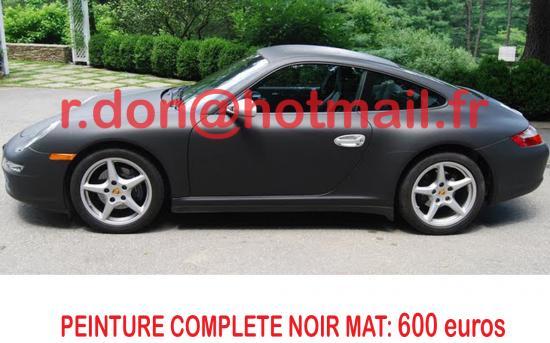 Porsche 911 noir mat, Porsche 911 noir mat, covering Porsche