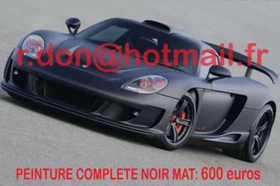 Porsche noir mat, Porsche noir mat, Porsche mat