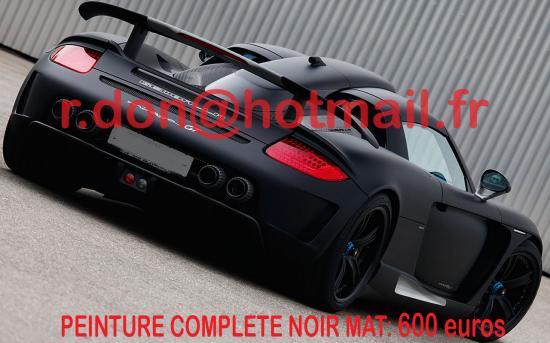 Porsche Carrera GT covering noir mat, Porsche Carrera GT noir mat