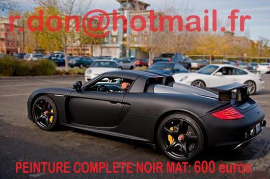 Porsche Carrera GT noir mat, Porsche Carrera GT noir mat, Porsche mat