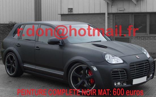 Porsche Cayenne covering noir mat, Porsche Cayenne covering noir mat