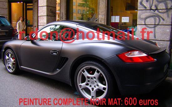 Porsche Cayman noir mat, Porsche Cayman noir mat, covering mat Porsche