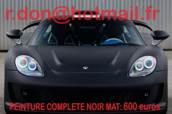 Porsche Carrera GT noir mat, Porsche Carrera GT noir mat