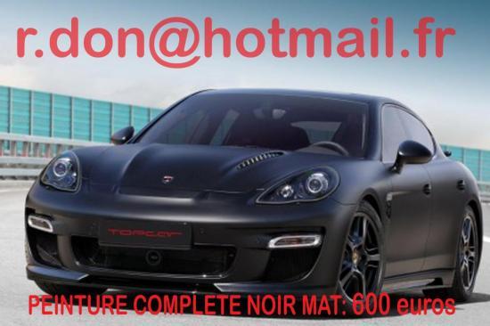 Porsche Panamera noir mat, Porsche Panamera noir mat