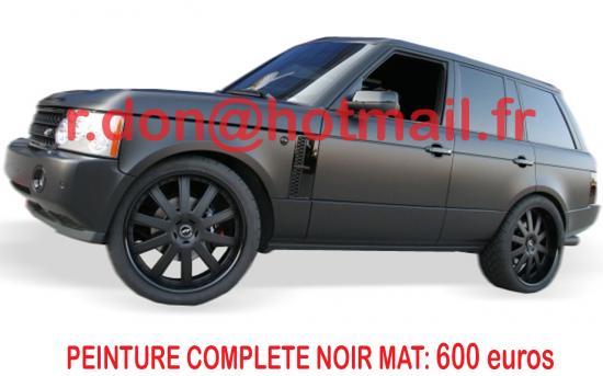 RANGE-ROVER--carrosserie-noir-mat-peinture noir mat auto