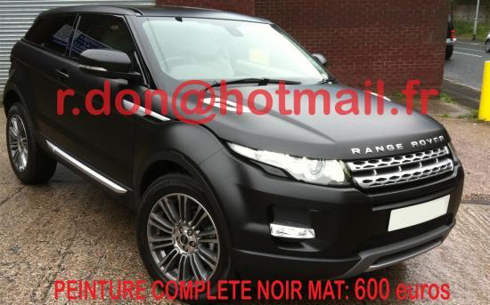 RANGE-ROVER-EVOQUE noir mat, noir mat, black mat auto